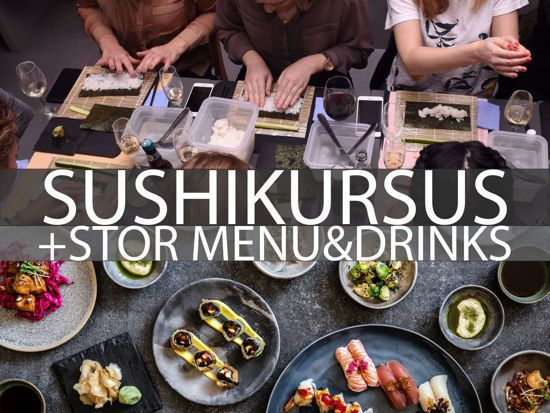 Picture of SUSHI COURSE + BIG MENU AND DRINKS